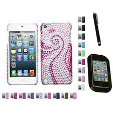 For Apple iPod Touch 5th 6th Gen Diamond Bling Rhinestone Case Mount+Pen