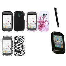 For Samsung Galaxy Exhibit T599 Design Snap-On Hard Case Phone Cover Mount+Pen