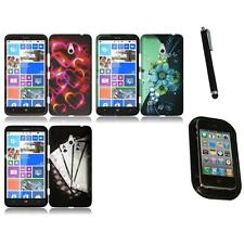 For Nokia Lumia 1320 Snap-On Design Rubberized Hard Case Phone Cover Mount+Pen