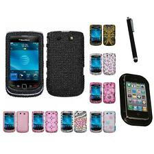 For BlackBerry Torch 9800 Diamond Diamante Bling Rhinestone Case Mount+Pen