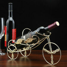 Wrought Iron Single Wine Bottle Holder,Creative Tricycle Shape Wine Rack Display