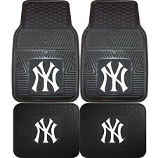 New MLB New York Yankees Car Truck Front / Back All Weather Rubber Floor Mats