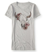 aeropostale womens floral skull graphic t shirt