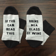 If You Can Read This Bring Me Wine Socks Unisex Mens Womens Funny Gift