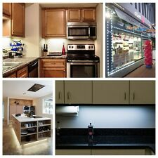 10ft~30ft Closet Kitchen Under Cabinet Counter LED Light +Power Supply & Remote