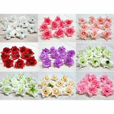"25PCS Roses Artificial Silk Flower Head Lot 1.75""Wedding Party Decoration Choose"