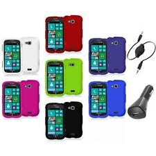 Color Hard Rubberized Case Cover+Aux+Charger for Samsung Ativ Odyssey i930
