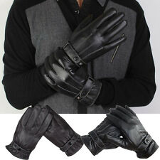 Fashion Mens Luxurious Leather Winter Super Driving Warm Gloves Cashmere Mittens