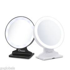 New 5X Magnification Tabletop Vanity Cosmetic Mirrors LED Lighted Makeup Mirror