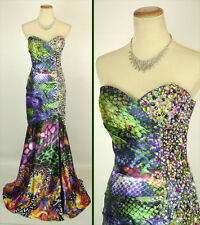 JOVANI 9636 Multi Prom Evening Dress Cruise Formal $450 NWT-Avail Size 0, 2, 4