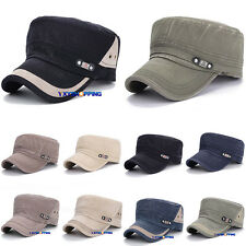 Classic Plain Vintage Army Military Cadet Style Baseball Cap Hat Adjustable Hats