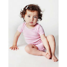 American Apparel Rib Short-sleeve Pink Infant Bodysuit