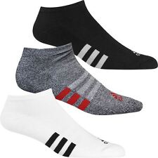 Adidas 2017 3-Stripes No Show Single Cushioned Golf Sports Socks - Pack of 1