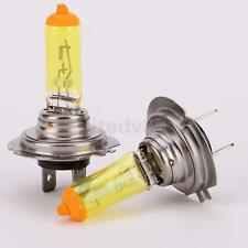 2x H4 H7 DC 12V 100w Yellow Led Fog Xenon Gas Light Bulb Halogen Car Headlight