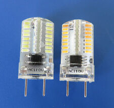 G8 Led bulb 64-3014 SMD 110V/220V Dimmable Silicone Crystal White/Warm White