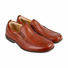 Hush Puppies Gt Mens Brown Leather Casual Dress Slip On Oxfords Shoes
