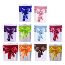 Wedding Party Banquet Decoration Soft Satin Ribbon Tie Bow Chair Sash