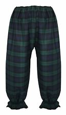 Adults Long BlackWatch PolyCotton Tartan Bloomers Victorian Steampunk