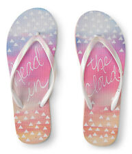 aeropostale mens head in the clouds flip-flop white
