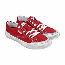 HUF Classic Lo Mens Red Canvas Lace Up Sneakers Shoes