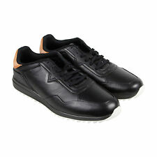 Diesel S-Swifter Mens Black Leather Lace Up Sneakers Shoes