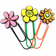 COLOURFUL GIANT PAPER CLIP, BOOKMARKS, MEMO CLIP.  PARTY BAGS,  FLOWERS- CHOOSE