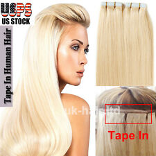 "16""18""20"" 20pcs 40pcs Tape In Skin Weft Remy Virgin Human Hair Extensions I399"