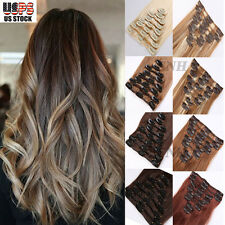 Clearance Cheap 7-8 Pieces Clip In Real Remy Human Hair Extension Full Head U840