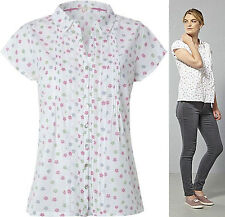 NEW WHITE STUFF  PINK GREY FLORAL PRINT BLOUSE TOP 8 10 12 14 16  RRP £35