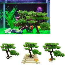 Plastic Aquarium Plant Fake Large Pine Tree Fish Tank Green Decoration Ornament