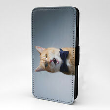 Cat Print Design Pattern Flip Case Cover For Samsung - P1245