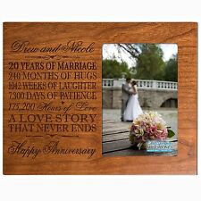 Personalized 20th Anniversary Wedding Gift Photo Picture Frame Holds 4x6 photo
