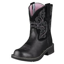 Ariat Ladies Fatbaby II Cowgirl Western Riding Boots Black 10004729