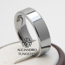 Tungsten Ring Comfort Wedding Band 6MM Versatile Polished Shiny Size 6 to 14