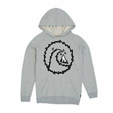 Quiksilver Hoodies - Quiksilver Dirty Old Town Youth Hoody - Light Grey Heather