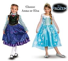 Child Toddler Movie Disney Pixar Frozen Princess Anna / Queen Elsa Dress Costume