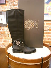 Vince Camuto Farrow Black Leather Riding Boots New