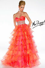 New MAC DUGGAL 61400H Sunset Organza Ball Gown Pageant Prom Quinceañera Dress