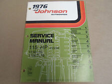 1976 Johnson Outboards Service Shop Manual 115 HP 115EL76 115ETL76 OEM Boat x