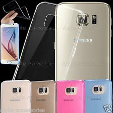Ultra Slim Crystal Clear Soft TPU Gel Thin Case Cover For iPhone 7 6s SE Samsung