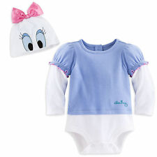 Disney Store Daisy Duck Baby Girls Costume Outfit & Hat 3 6 9 12 18 24 Months