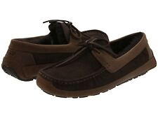 Ugg Australia Byron Cappuccino Brown Suede 5102 Men's Sheepskin Moccasins Shoes.