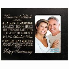 45th Anniversary Wedding Gift Personalized 4x6 Picture Photo Frame Engraved