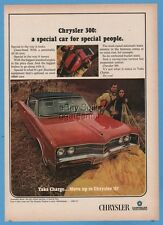 1967 Chrysler 300 2 door hardtop Scorch Red Parachuting skydiving theme ad
