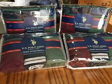 U.S.Polo Assn. Boxer Briefs S, M, L, XL Burgundy/Green/Navy Solid/Stripes