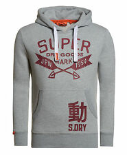 New Mens Superdry Dry Goods Reworked Classic Hoodie Grey Marl