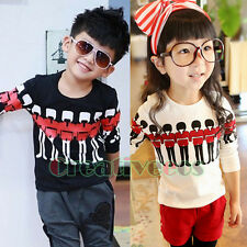 Trendy Fashion Kids Toddlers Boys Girls American Soldiers Cotton Tops T-Shirt