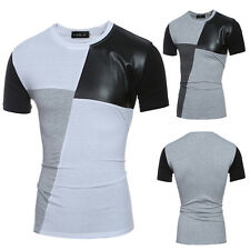 Mens Casual Stylish Slim Fit O-neck Tee Shirts Summer Short Sleeve Top T-shirts