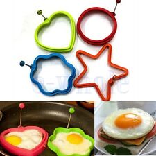 Silicone Omelette Pancake Poach Mould Ring Fried Egg Shaper Cooking Kitchen HM