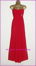 KDK Long Red Diamante Strapless Formal Party Prom Ball Gown Maxi Dress Size 14